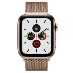 Apple Watch Series 5 LTE 44mm Gold Steel w. Gold Milanese Loop - Gold Steel (MWW62)