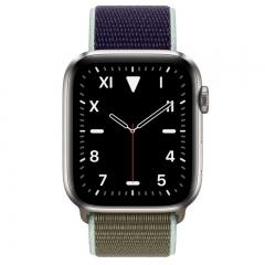 Apple Watch Series 5 GPS + LTE 44mm Titanium w. Khaki Sport L. (MWU12)