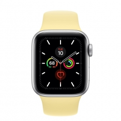 Apple Watch Series 5 (GPS) 44mm Silver Aluminum Case with Lemon Cream (MWT32)