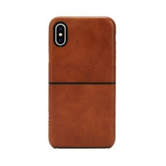 Чехол Incase for Apple iPhone X Leather Textured Snap Case Tan