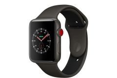 Apple Watch Edition Series 3 GPS + Cellular 42mm Gray Ceramic w. Gray/Black Sport B. (MQKE2)
