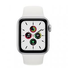 Apple Watch SE GPS 44mm Silver Aluminum Case w. White Sport B. (MYDQ2)