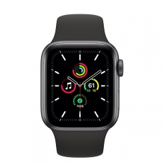 Apple Watch SE GPS 40mm Space Gray Aluminum Case w. Black Sport B. (MYDP2)