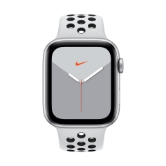 Apple Watch Series 5 Nike (GPS + LTE) 44mm Silver Aluminum Case with with Pure Platinum/Black Nike Sport Band (MX3E2)