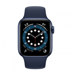 Apple Watch Series 6 GPS 40mm Blue Aluminum Case w. Deep Navy Sport B. (MG143)