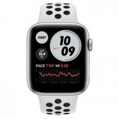 Apple Watch Nike Series 6 GPS + Cellular 44mm Silver Alu Case w. Pure Platinum/Black Sport B. (MG2G3/M09W3)