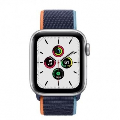 Apple Watch SE GPS + Cellular 40mm Silver Aluminum Case with Deep Navy Sport L. (MYE92/MYEG2)