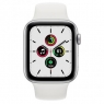 Apple Watch SE GPS + Cellular 44mm Silver Aluminum Case with White Sport B. (MYEM2/MYEV2)
