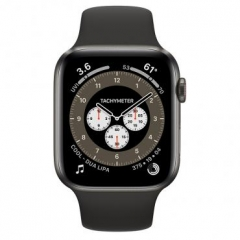 Apple Watch Series 6 GPS + Cellular 44mm Space Black Titanium Case w. Dark Gray Sport Band (M0H13)